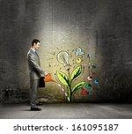 image of businessman watering... | Shutterstock . vector #161095187