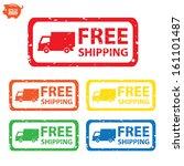 vector  stamp sticker free... | Shutterstock .eps vector #161101487
