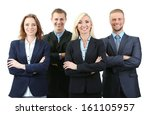 group of business people... | Shutterstock . vector #161105957