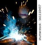welders in action with bright... | Shutterstock . vector #161110457
