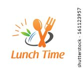lunch time  | Shutterstock .eps vector #161123957
