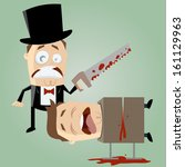 accident,amusing,blood,bow,box,cartoon,character,clip-art,clumsy,comic,conjurer,dead,drawing,entertainment,funny