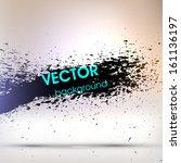abstract black grunge... | Shutterstock .eps vector #161136197