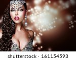 arabian style. mysterious woman ... | Shutterstock . vector #161154593