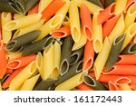 Background Of Colorful Pasta A...