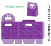 purple gift bag template with... | Shutterstock .eps vector #161172827