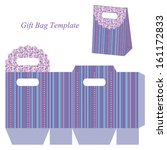blue gift bag template with... | Shutterstock .eps vector #161172833