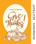 thanksgiving card with phrase... | Shutterstock .eps vector #161174147