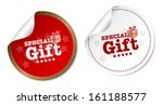 special gift stickers | Shutterstock . vector #161188577