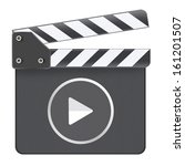 movie media player clapboard | Shutterstock . vector #161201507