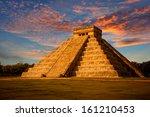 el castillo  the kukulkan... | Shutterstock . vector #161210453