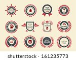 achievement badges for games or ... | Shutterstock .eps vector #161235773