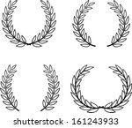 laurel wreaths vector isolated | Shutterstock .eps vector #161243933