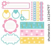 scrapbook element set | Shutterstock .eps vector #161244797