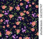 ditsy classic rose print  ... | Shutterstock .eps vector #161252747