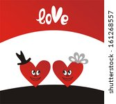 valentines day card love hearts ...   Shutterstock .eps vector #161268557