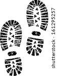 black shoe print  | Shutterstock .eps vector #161295257