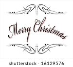 vector merry christmas phrase... | Shutterstock .eps vector #16129576