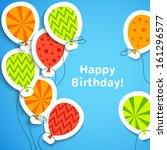 Happy Birthday Postcard With...