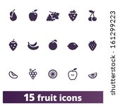 fruit icons  vector set of food ...