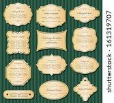 golden vintage frame and label... | Shutterstock .eps vector #161319707