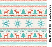 christmas traditional knitted... | Shutterstock .eps vector #161322083