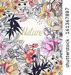 vector floral background with... | Shutterstock .eps vector #161367887