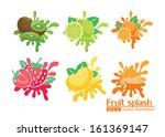 fruit splash illustrator vector | Shutterstock .eps vector #161369147