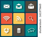 online flat icons for web and...