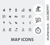 map icons set  vector | Shutterstock .eps vector #161380997