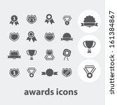 awards  trophy  victory icons... | Shutterstock .eps vector #161384867