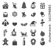 christmas icons set.vector  | Shutterstock .eps vector #161398883