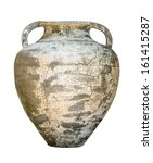 Vintage Pottery Isolated Over ...