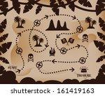 map of treasure treasure map ... | Shutterstock .eps vector #161419163