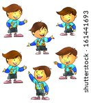 math kid | Shutterstock . vector #161441693