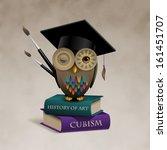 owl sitting on books  concept...   Shutterstock .eps vector #161451707