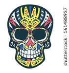 sugar skull  | Shutterstock .eps vector #161488937