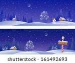 Vector Banners With Snowy...
