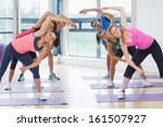 portrait of sporty people... | Shutterstock . vector #161507927