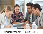 young people meeting with... | Shutterstock . vector #161513417
