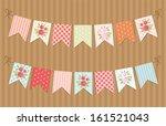 festive vintage garlands with... | Shutterstock .eps vector #161521043