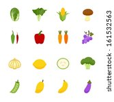 vegetables and fruits icons... | Shutterstock .eps vector #161532563