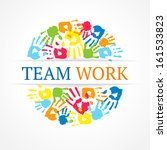 team work symbol. vector... | Shutterstock .eps vector #161533823