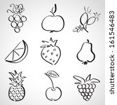 ink style hand drawn sketch set ... | Shutterstock .eps vector #161546483
