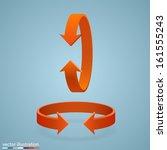 arrow rotation set  3d sign... | Shutterstock .eps vector #161555243