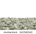 100 dollars on the ground | Shutterstock . vector #161560163