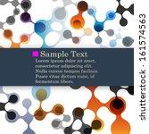 abstract molecule backgrounds ... | Shutterstock .eps vector #161574563