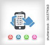 menu smartphone | Shutterstock .eps vector #161579363