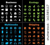various icons vector set. | Shutterstock .eps vector #161585117