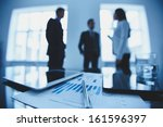 close up of business document... | Shutterstock . vector #161596397